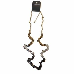 Jen's Club Three-Tone Necklace With Pailettes New